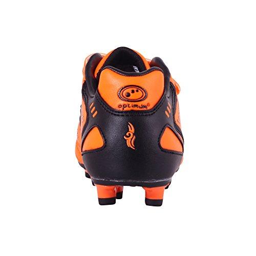 Optimum  Tribal - Velcro Moulded Stud, Chaussures de Football Garçons Orange - Orange (Fluro Orange/Black)