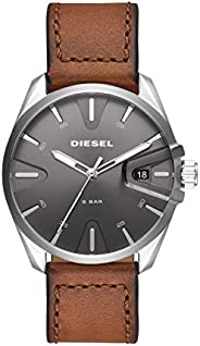 Diesel Mens Quartz Watch, Analog and Leather- DZ1890