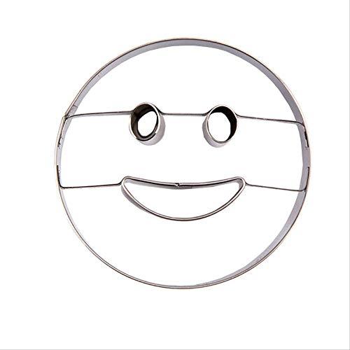 MYQG Backform Emoji Herz Form Stern Runde Lächeln Gesicht Cookie Keks Form Kuchen Backen Formen Obst Und Gemüse Brot Plasticine Cutter rund