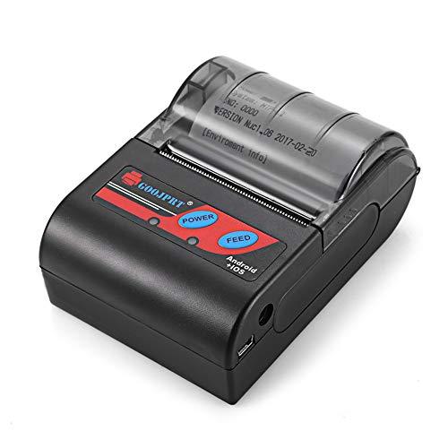 JYL Thermoetikettendrucker Drahtlose Empfangsmaschine 58mm Empfangsaufkleber Drahtloser Bluetooth-Versanddrucker, für Windows Android iOS