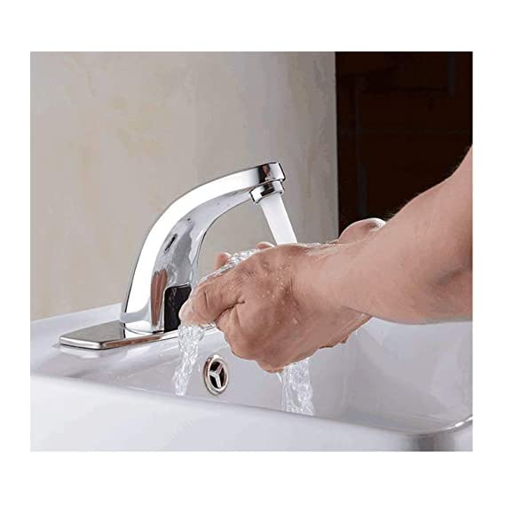 Drizzle (combo of 2) Sensor Tap Automatic For Bathroom/Touch less Hand Free Sensor Tap For Washbasin With Foam Flow Water - Combo of 2 Pieces