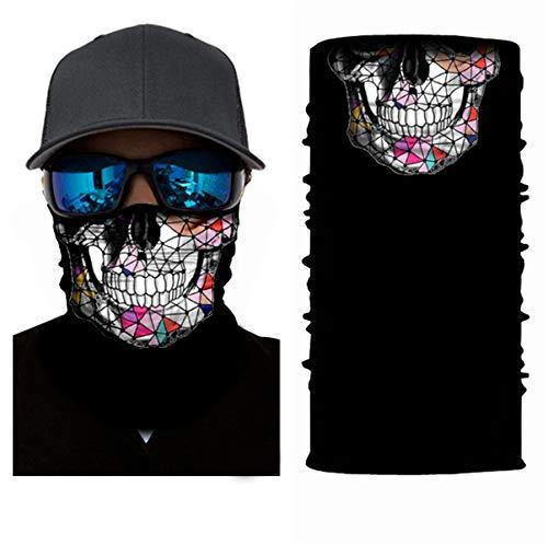3D Halstuch Kopftuch Radfahren Multifunktionstuch Stirnband Winddicht Motorradmaske Skifahren Kopf Wrap Sturmmaske Snowboarden Warm Neck Gaiter Bandana Balaclava UVSchutz Neck Cool Wrap