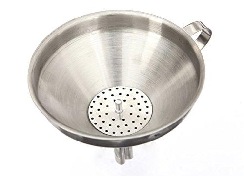 Edelstahl Trichter mit Sieb, Siebeinlage für Küche und Haushalt 10cm von Pentaton®