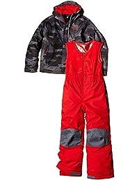 Columbia Buga - Conjuntos termales para bebés, multicolor (negro/gris/rojo), talla Size 6/12