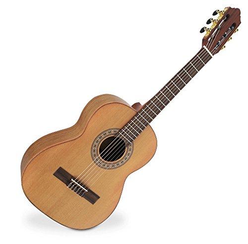 Harmonie Boden (Classic Cantabile AS-1000M 1/2 Konzertgitarre (Halsbreite: 44,5 mm, Mensur: 53 cm, Decke aus massiver Zeder, Boden und Zarge aus Walnuss) Natur)
