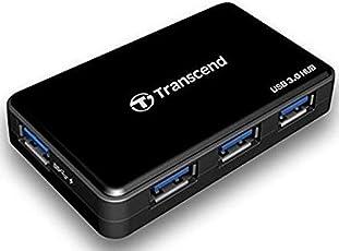 Transcend TS-HUB3K USB 3.0 4-port Hub - 3 x USB 3.0 USB Downstream 1 x USB 3.0 Powered USB Downstream 1 x Power 1 x USB 3.0 USB Upstream - External