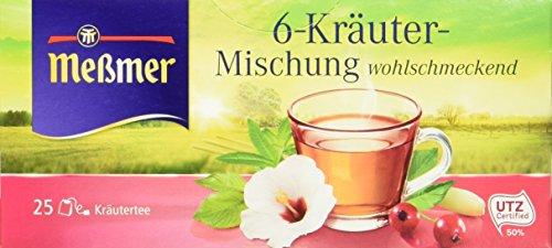 Meßmer 6-Kräuter 25 TB, 4er Pack (4 x 50 g)