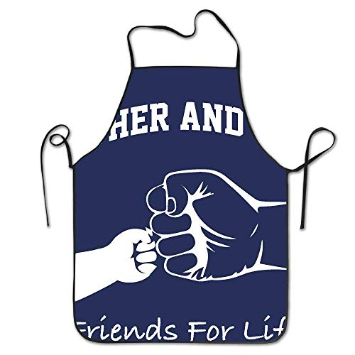 But why miss Father and Son Friends for Life Design Kitchen Apron for Tailgating BBQ Grill Pit Master Black (Grill-tools Mr)