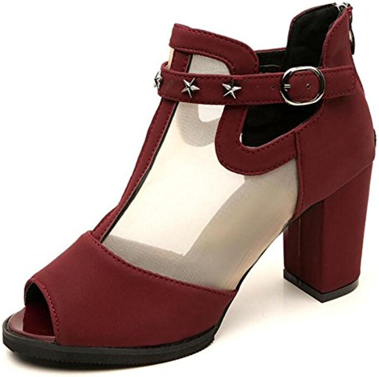 GAOLIXIA Chaussures à à à talons pour les femmes de chaussures à talons hauts Summer épaississeHommes t coréenne Wild...B07C98T7QFParent 260620