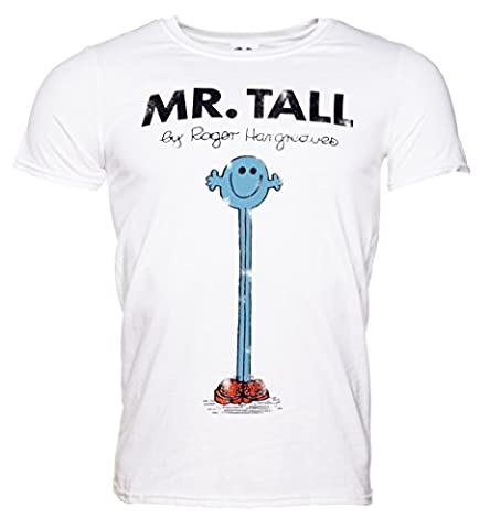 Mens White Mr Tall Mr Men T