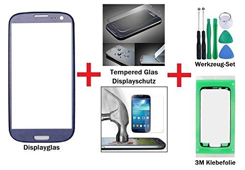 iTech Germany PREMIUM Vetro display kit di sostituzione per Samsung Galaxy S3 Blu - Touchscreen frontale per i9300 i9301 i9305 NEO LTE + Vetro temprato,
