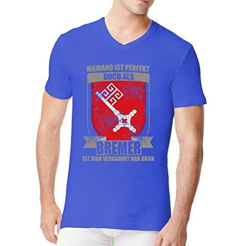 Im-Shirt - Bundesland Shirt: Perfekter Bremer cooles Fun Men V-Neck - verschiedene Farben Royal