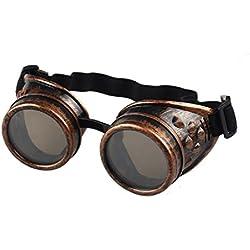 zolimx Estilo vintage Steampunk gafas soldadura gafas Punk divertidos (C)