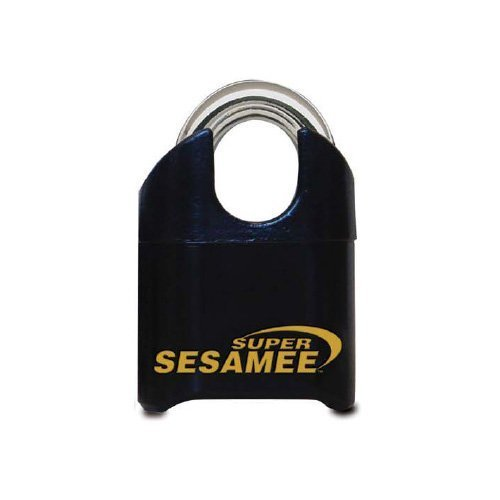 Sesamee K646 4 Dial Bottom Resettable Combination Brass Padlock with 1-Inch Shackle and 10,000 Potential Combinations by Sesamee