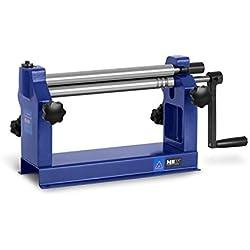 MSW Cintreuse À Rouleaux Machine Presse Cintrer Manuelle MSW-SR305 (Épaisseur Max. 0,8 mm, Largeur Max. 305 mm, Espacement Réglable)