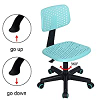 GreenForest Kids Desk Chair, Mid Back Swivel Adjustable Home Office Student Computer Study Chair for Children, Hollow Star