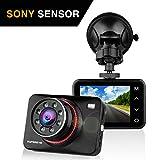 Dashcam Autokamera Full HD 1080P Dash Camera Auto SuperEye DVR Recorder mit 170° Weitwinkelobjektiv Bewegungserkennung WDR Parkmonitor G-Sensor...
