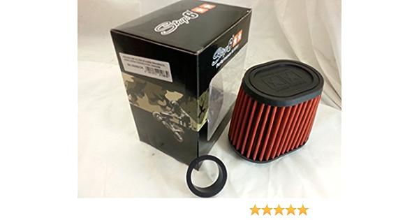 Racingluftfilter Stage6 Drag Race Airbox Orange 44mm 49mm Anschluss Auto