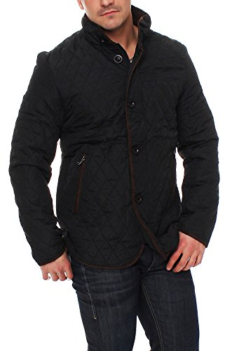 Epister Men`s`Wear Herren Steppjacke Übergangsjacke Rauten-Stepp Stehkragen Outdoor - 3