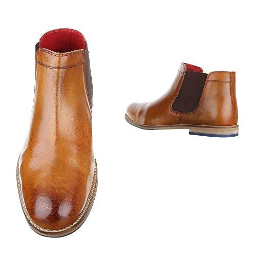 Ital-Design , Bottes Chelsea homme Camel
