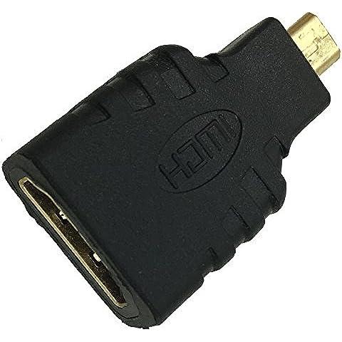 YUANJ -Adattatore da Micro HDMI a HDMI per tablet Tesco Hudl & tablet Tesco Hudl 2 a TV LCD HDTV