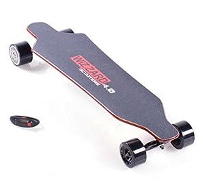 Elektro Longboard E Skateboard WIZZARD 4.0 2nd Generation, Skateboard Elektrischer City Scooter Elektrolongboard, Reichweite Ca. 30 km, Geschwindigkeit 40km/h