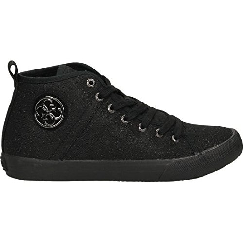 Guess Sneaker Donna Joel Canvas Metallic Logo Black_38