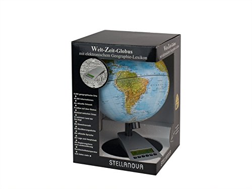 20 cm Welt-Zeit-Globus: physisches Kartenbild Erde Globus Elektronische