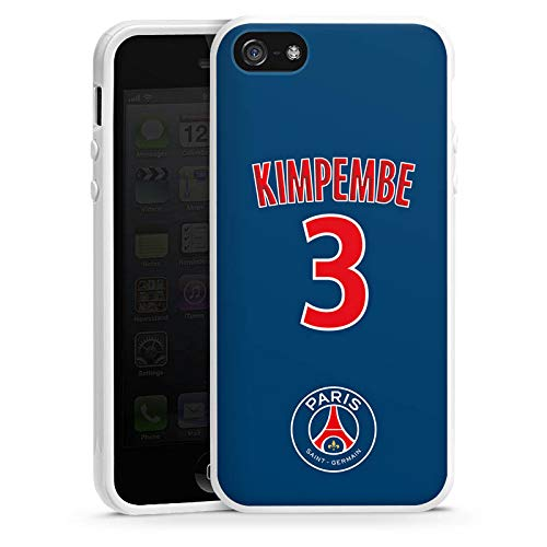 DeinDesign Apple iPhone Se Coque en Silicone Étui Silicone Coque Souple Paris Saint-Germain Produit sous Licence Officielle Kimpembe