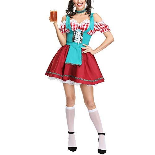 Bayerischen Maid kostüm Oktoberfest Kostüm Sexy Bier Mädchen Uniform Bavaria Deutsch Dirne Maid Dirndl Partei-abendkleid (Sexy Kostüm Bier)