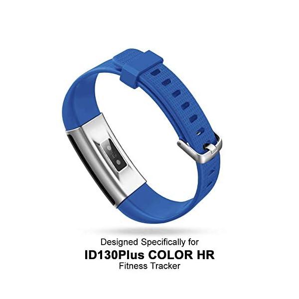 Correa para ID 130 Plus Color HR, Rastreador de Ejercicios Pulsera, Recambio Repuesto Reemplazo Banda de Reloj Ajustable para Fitness Tracker ID130 Plus 3