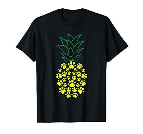 Cooles Ananas in Hunde-Pfotenabdrücken Shirt T-Shirt