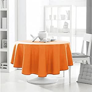 nappe anti tache ronde 180cm polyester design actuel mandarine cuisine maison. Black Bedroom Furniture Sets. Home Design Ideas
