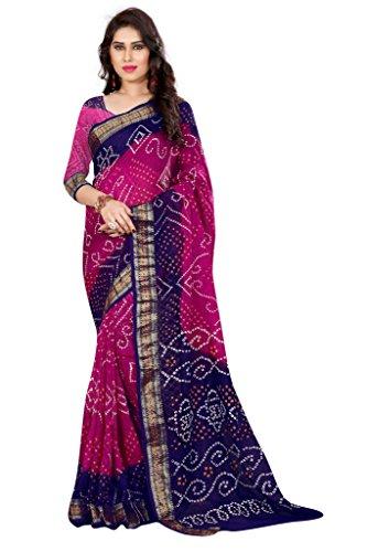 Nirja Creation Women's Silk Saree With Blouse Piece (Nc-Td-1035, Pink, Free Size)