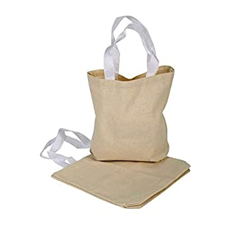 Adorox Canvas Tote Bag Sacks Arts & Crafts Reusable Grocery Bags Party Favors Decoration (12)