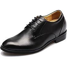 CHAMARIPA Elevador Zapatos para Hombre de Altura Creciente de Cuero Casual con Cordones Zapatos de Boda