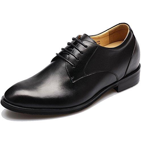 Chamaripa scarpe derby oxford nero uomo - 7,5 centimetri più alto - dx70h106s