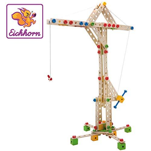 Eichhorn - Constructor Windrad - vielseitiges Holzspielzeug 300 Bauteile, 8 verschiedene Konstruktionen, für Kinder ab 6 Jahren, FSC 100{4725b6d5753970cfa7495409ffb33628ddb43745d7e648c92937cd302df9197a} Buchenholz