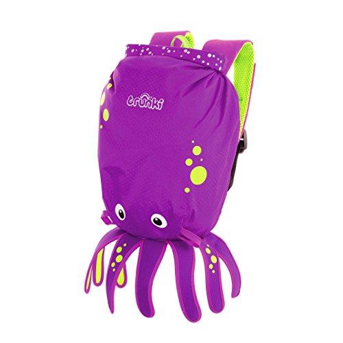 Trunki Paddle Pak resistente al agua infantil, diseño de mochila, color morado por Trunki