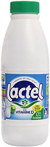 Lactel de Lait Écrémé 1 L - Pack de 6 Bouteilles