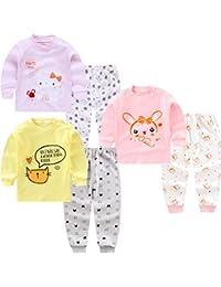 XM-Amigo Conjunto térmico de 3 Capas de Base para niños – Parte Superior e Inferior, Ropa Interior térmica para niñas/niñas, Ropa Interior Larga y Pantalones Largos, Pijamas térmicos Largos