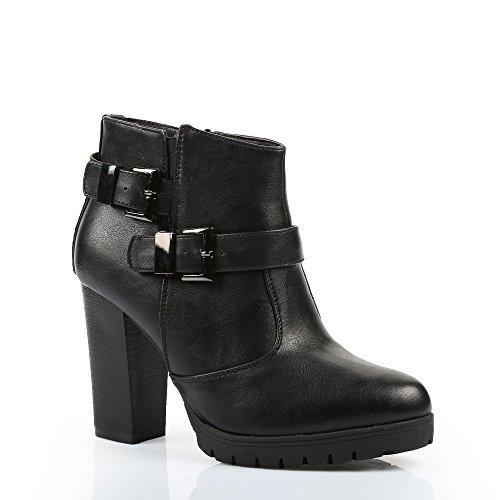 Ideal-Scarpette Shoes a Lama spessa, in similpelle, Paige Nero (nero)