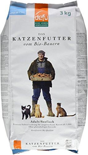 defu Bio Trockenfutter Seefisch für Katzen 3 kg, 1er Pack (1 x 3 kg)