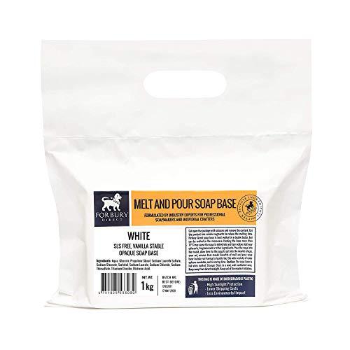 Base Jabón de glicerina, blanco sin SLS, 1kg Forbury Direct