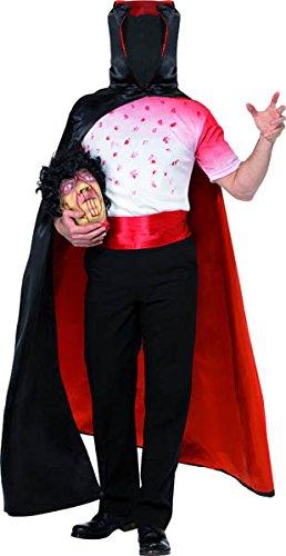 m kopfloser Mann ohne Kopf Halloweenkostüm Kostüm für Halloween geköpfter Zombie kopfloser Reiter Gr. 48/50 (M), 52/54 (L), Größe:L ()