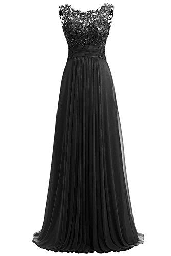 Aurora dresses Damen Chiffon Abendkleider Lange Elegant Hochzeitskleid Spitze...