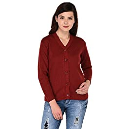 eWools Woolen Bestselling Basic Casual Women Ladies Cardigan Sweaters