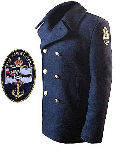 Giaccone marina militare tedesca in panno peacoat blu