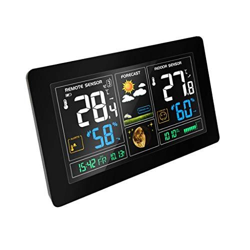 7348edc49b6b DUOER Home-Weather Clocks Estación meteorológica Interiores Exteriores  Sensor inalámbrico Pantalla a Color Relojes de monitoreo del Tiempo Relojes  de Alarma ...