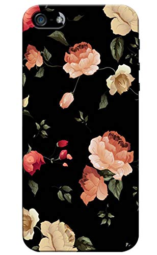 Pikkme Colorful Multicolor Flower Floral Designer Printed Hard Back Case and Cover for Apple iPhone 5 / 5s / SE (for Girls and Womens)